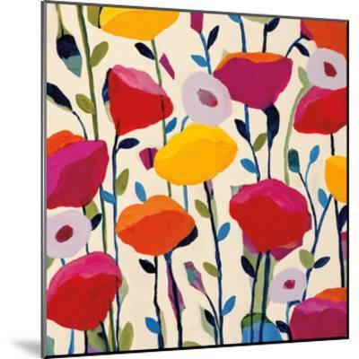 Bursting Poppies-Carrie Schmitt-Mounted Art Print