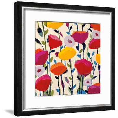Bursting Poppies-Carrie Schmitt-Framed Art Print