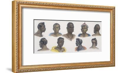 Black People of Different Nations-Jean Baptiste Debret-Framed Giclee Print