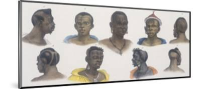 Black People of Different Nations-Jean Baptiste Debret-Mounted Giclee Print