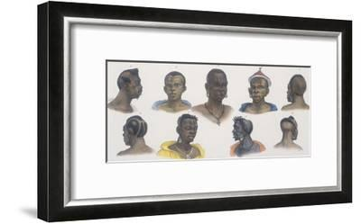 Black People of Different Nations-Jean Baptiste Debret-Framed Giclee Print