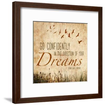 Go Confidently - Henry David Thoreau Classic Quote-Jeanne Stevenson-Framed Art Print
