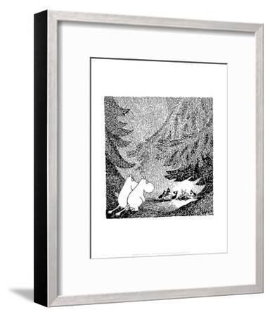 Vintage Moomin Illustration-Tove Jansson-Framed Art Print