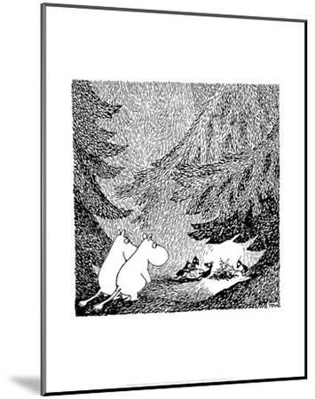 Vintage Moomin Illustration-Tove Jansson-Mounted Art Print