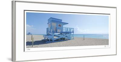 Haulover Beach Lifeguard 1-John Gynell-Framed Giclee Print
