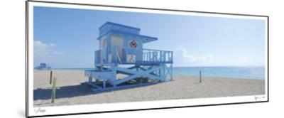 Haulover Beach Lifeguard 1-John Gynell-Mounted Giclee Print