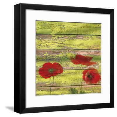 Red Poppies 2-Irena Orlov-Framed Giclee Print