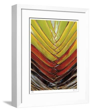 Vertical Color Palm-John Gynell-Framed Giclee Print