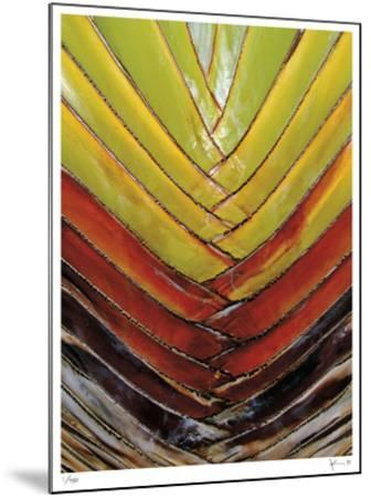 Vertical Color Palm-John Gynell-Mounted Giclee Print