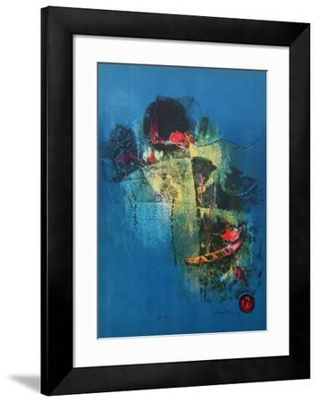 Red Boat and Hut I-Lebadang-Framed Collectable Print