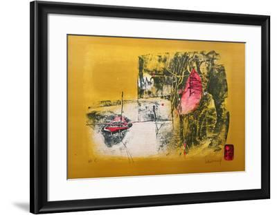 Boat and Crescent Moon-Lebadang-Framed Collectable Print
