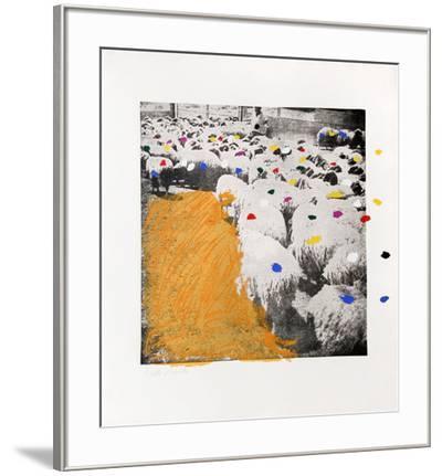 Sheep Portfolio 6-Menashe Kadishman-Framed Limited Edition