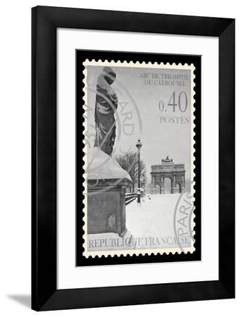Stamp Collection I-The Vintage Collection-Framed Giclee Print