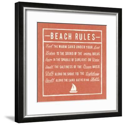 Beach Rules - Coral - Detail-The Vintage Collection-Framed Giclee Print