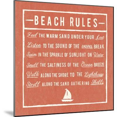 Beach Rules - Coral - Detail-The Vintage Collection-Mounted Giclee Print