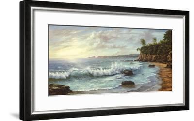 Summer Blue Sea-Keith Cast-Framed Giclee Print