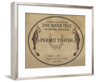 Gone Fishin' I-The Vintage Collection-Framed Giclee Print