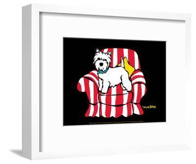 Westie in Chair-Marc Tetro-Framed Art Print
