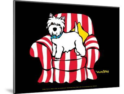 Westie in Chair-Marc Tetro-Mounted Art Print