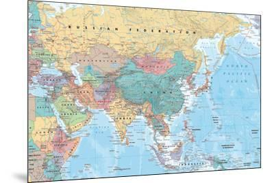 Middle East and Asia map--Mounted Poster
