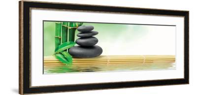 Spa Concept Zen Basalt Stones--Framed Art Print