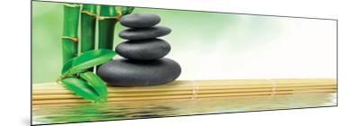 Spa Concept Zen Basalt Stones--Mounted Art Print