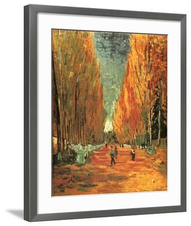 Allee des Alycamps-Vincent van Gogh-Framed Preframe Component - Art