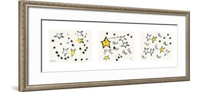 So Many Stars, c. 1958 (triptych)-Andy Warhol-Framed Art Print