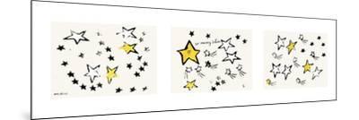So Many Stars, c. 1958 (triptych)-Andy Warhol-Mounted Art Print