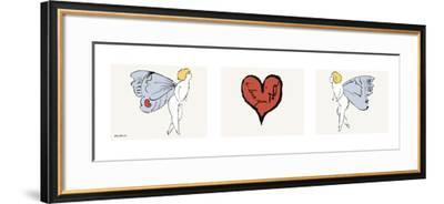 I Love You So, c. 1958 (triptych)-Andy Warhol-Framed Art Print