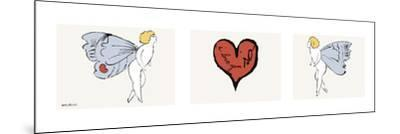 I Love You So, c. 1958 (triptych)-Andy Warhol-Mounted Art Print