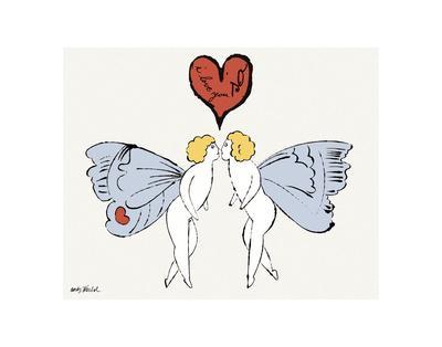 I Love You So, c. 1958 (angel)-Andy Warhol-Art Print