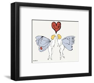 I Love You So, c. 1958 (angel)-Andy Warhol-Framed Art Print