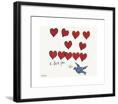 I Love You So, c. 1958-Andy Warhol-Framed Giclee Print