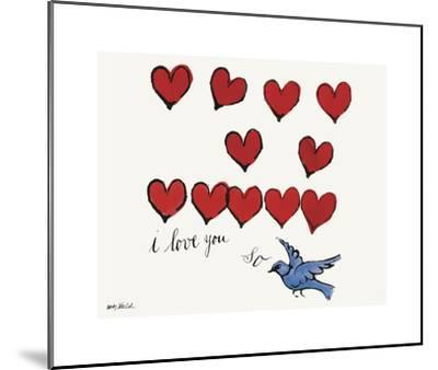 I Love You So, c. 1958-Andy Warhol-Mounted Giclee Print