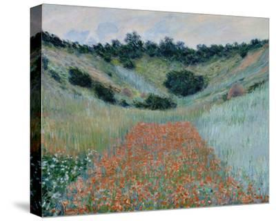 Poppy Field in a Hollow Near Giverny, 1885-Claude Monet-Stretched Canvas Print