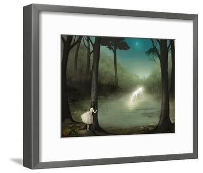 No One Would Ever Believe Her-Meluseena-Framed Art Print
