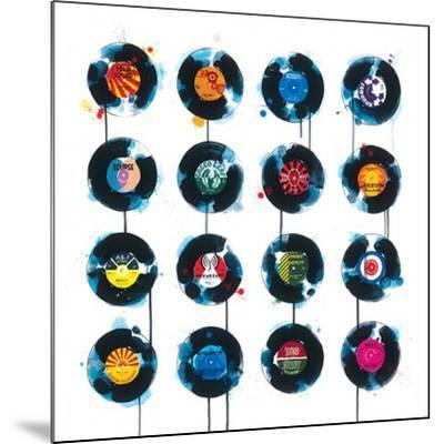 45rpm-James Paterson-Mounted Art Print
