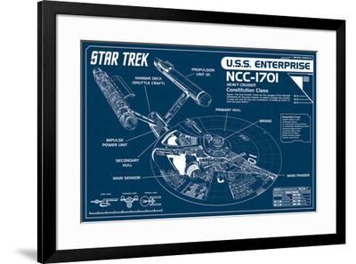 Star Trek Enterprise Blueprint Poster By Art Com