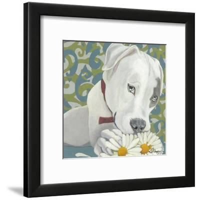 Dlynn's Dogs - Patch-Dlynn Roll-Framed Art Print
