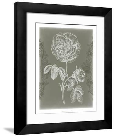 Floral Relief I-Jennifer Goldberger-Framed Giclee Print