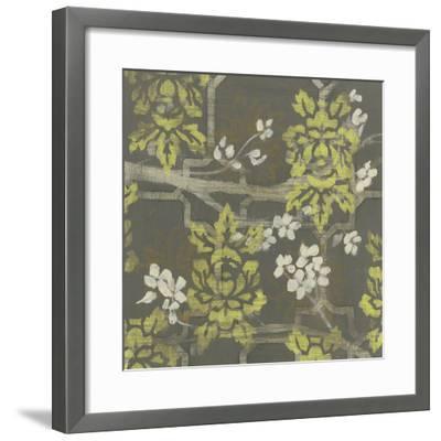 Patterned Blossom Branch II-Jennifer Goldberger-Framed Giclee Print