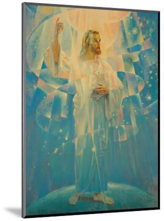 Jesus Christ - Thine is the Power-Warner Sallman-Mounted Art Print