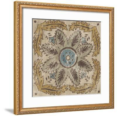 Batik Square IV-Chariklia Zarris-Framed Giclee Print