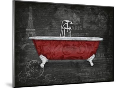 Red Bath 2-Jace Grey-Mounted Art Print