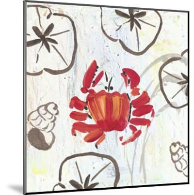Crabby Beach-Beverly Dyer-Mounted Art Print