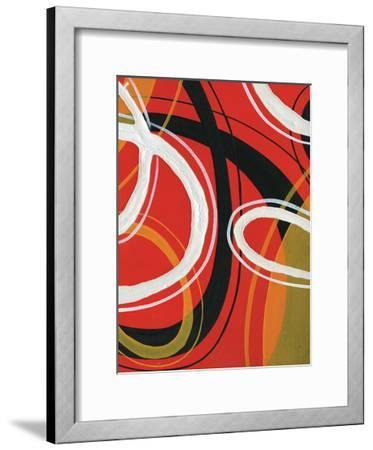 Red Circles-Lucas Hunter-Framed Art Print