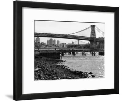 New York City Bridges 1-Sandro De Carvalho-Framed Art Print