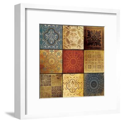 9 Patch Pattern-Jace Grey-Framed Art Print
