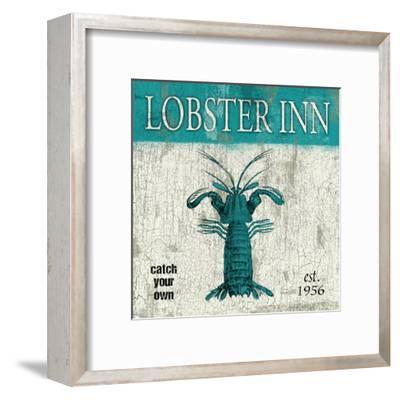 Lobster Teal-Jace Grey-Framed Art Print